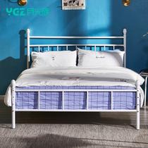 铁艺床双人床现代简约小户型单人公主床1.5米铁架子床儿童床铁艺