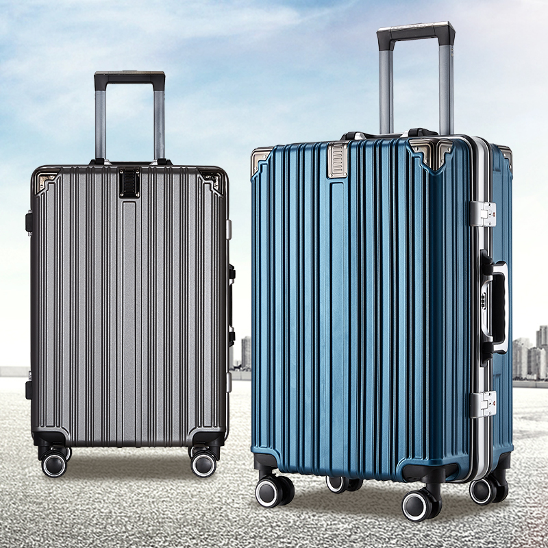 Aluminum frame trolley case 24 inch universal wheel fashion trend traveling case for male and female students small luggage case 20 inch fall proof