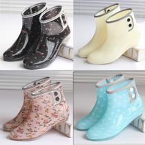 雨鞋短筒韩版时尚雨靴女士可爱套鞋大人水靴防水鞋女外穿加绒胶鞋