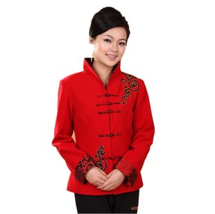 Ms fall and winter clothes long sleeved shirt Chinese costume improved cheongsam dress national dress jacket mother 2988 1