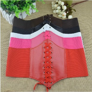 Korean palace orange laces girdle women wide belt elastic waist girdle Bandwidth