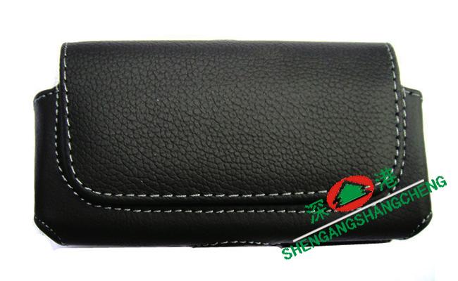 包邮 HTC T5399 横开 腰挂式 手机套 保护套 真皮皮套 双�A 腰包