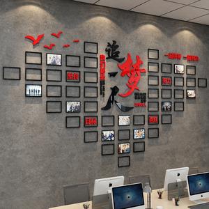 企业文化办公室装饰荣誉照片墙贴