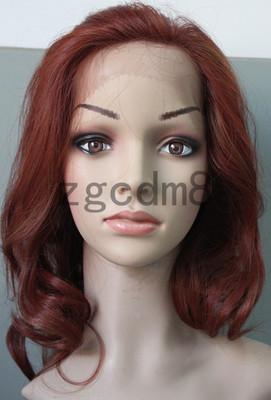 The American foreign trade before hand woven lace long curly wig