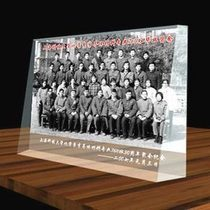 Graduation group photo anniversary wedding gift water Photo Crystal screen custom own photo creative Zhimo