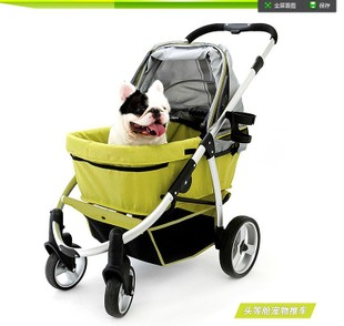 Limited two way light alloy ultra luxury pet strollers to fold the big dogs have taken more dogs Jiangsu Zhejiang