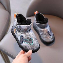 宝宝秋冬款雪地靴1-3岁小童棉鞋男童软底休闲加绒加厚棉靴子防水