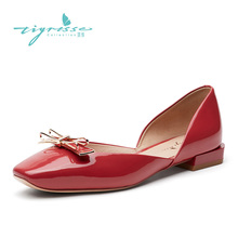Tsyi Summer 2009 New Temperament Painted Leather Square Head Flat sole Sandals Fairy Wind TA09114-11