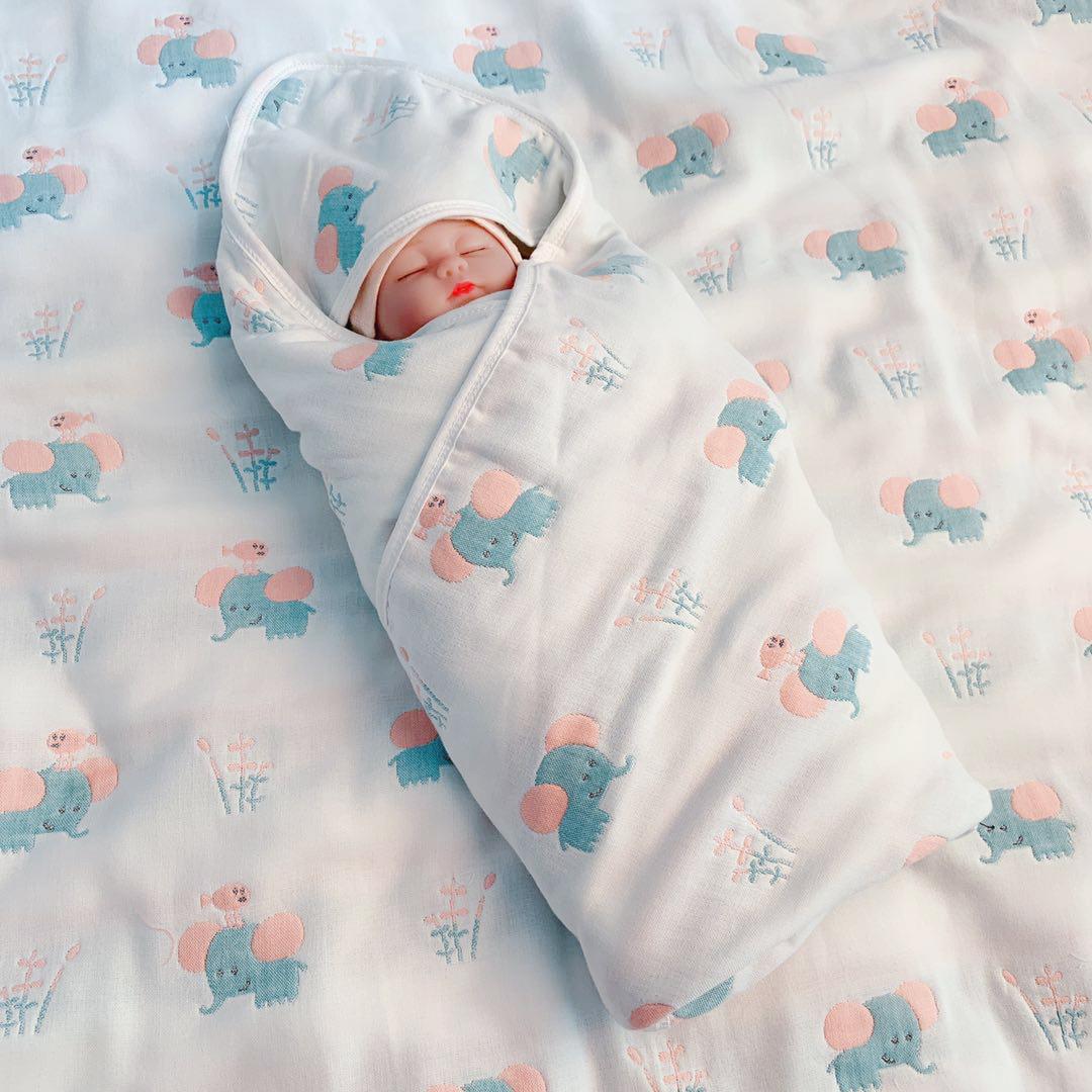 初生婴儿抱被新生儿包被春秋薄款纯棉纱布夏季宝宝包巾产房加厚冬