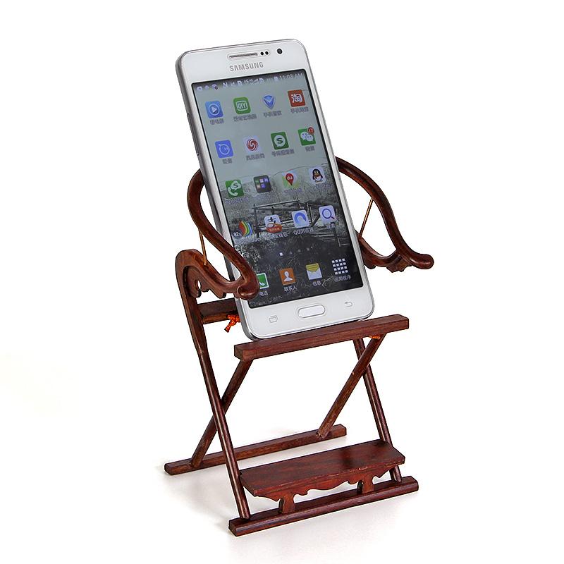 交椅木質手機支架