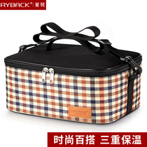 Leibe thickened lunch Box bag student portable bento Bag kitchen bag canvas portable storage bag Large