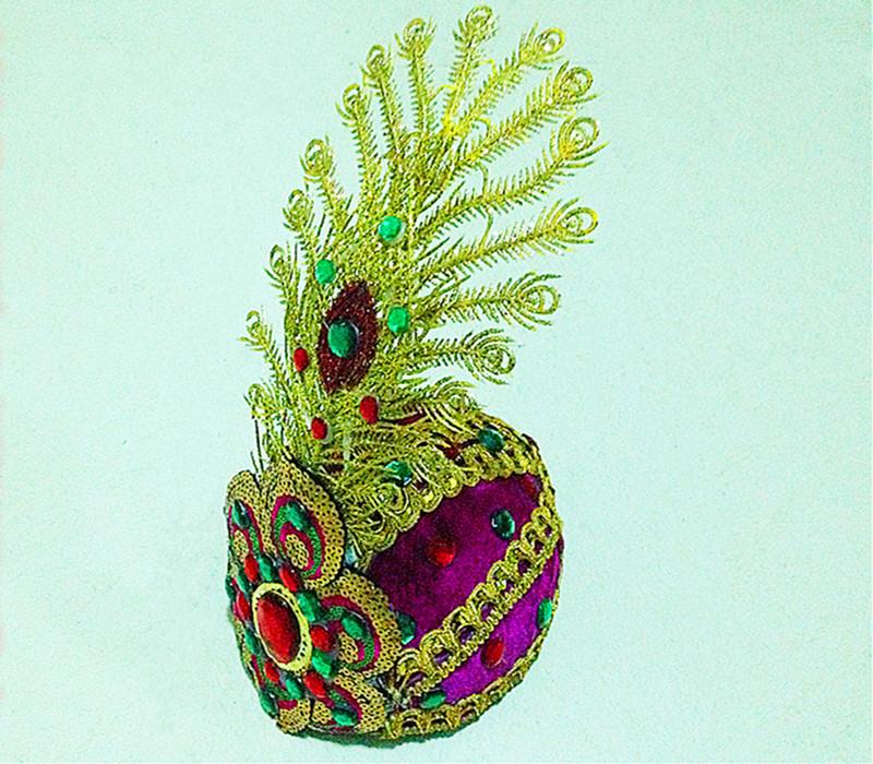 Новый Этнические особенности Синьцзяна женский цветок шляпа ручная работа Производство стадии шляпы шляпу новый Синьцзянский танец шапка