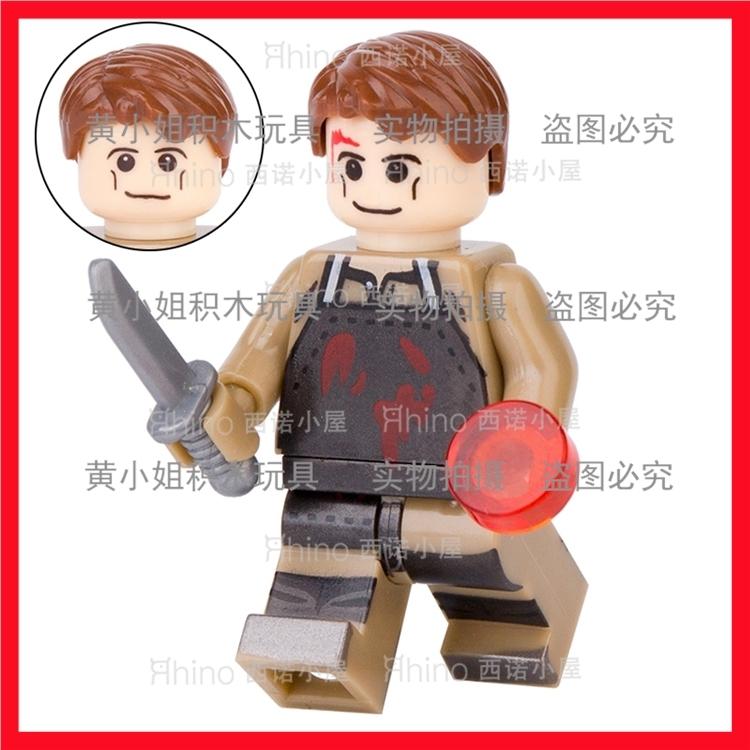 抽抽乐第三方积木人仔WM371嗜血判官恐怖电影周边拼装玩具S牌品高