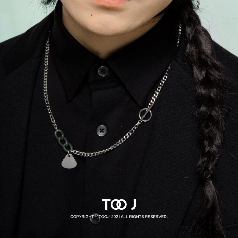 TooJewelry之二首饰极乐系列青玉三连环佛吊坠项链传统元素设计感