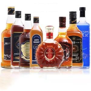 洋酒多瓶套装组合蓝尊威士忌 嘉士华白兰地莫希科伏特加 烈酒基酒