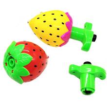 新款草莓单款蓝色发射音乐发光卡通旋转男女儿童猫咪陀螺玩具包邮