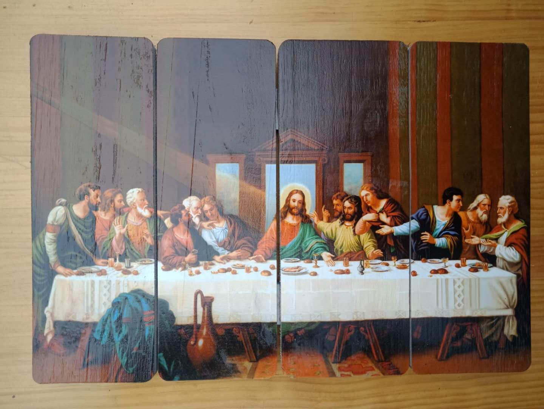 天主教圣物 天主教圣像 木板圣像 最后的晚餐像