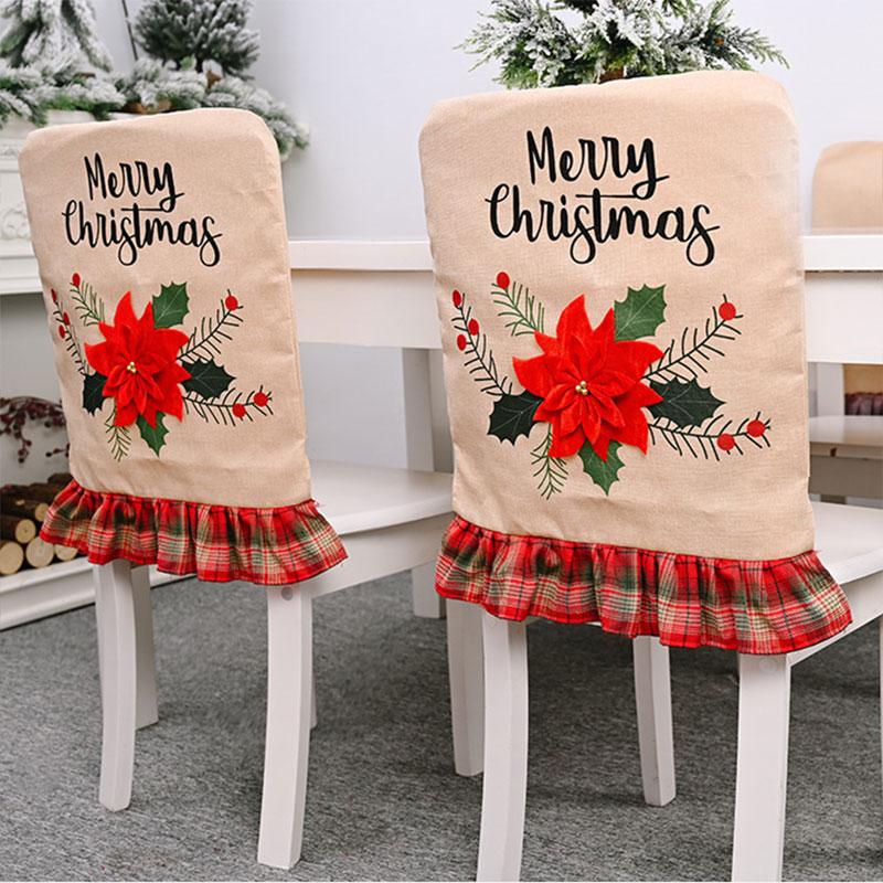 圣诞节装饰品老人雪人雪花酒店森林汽车椅子套凳子套椅套居家装饰