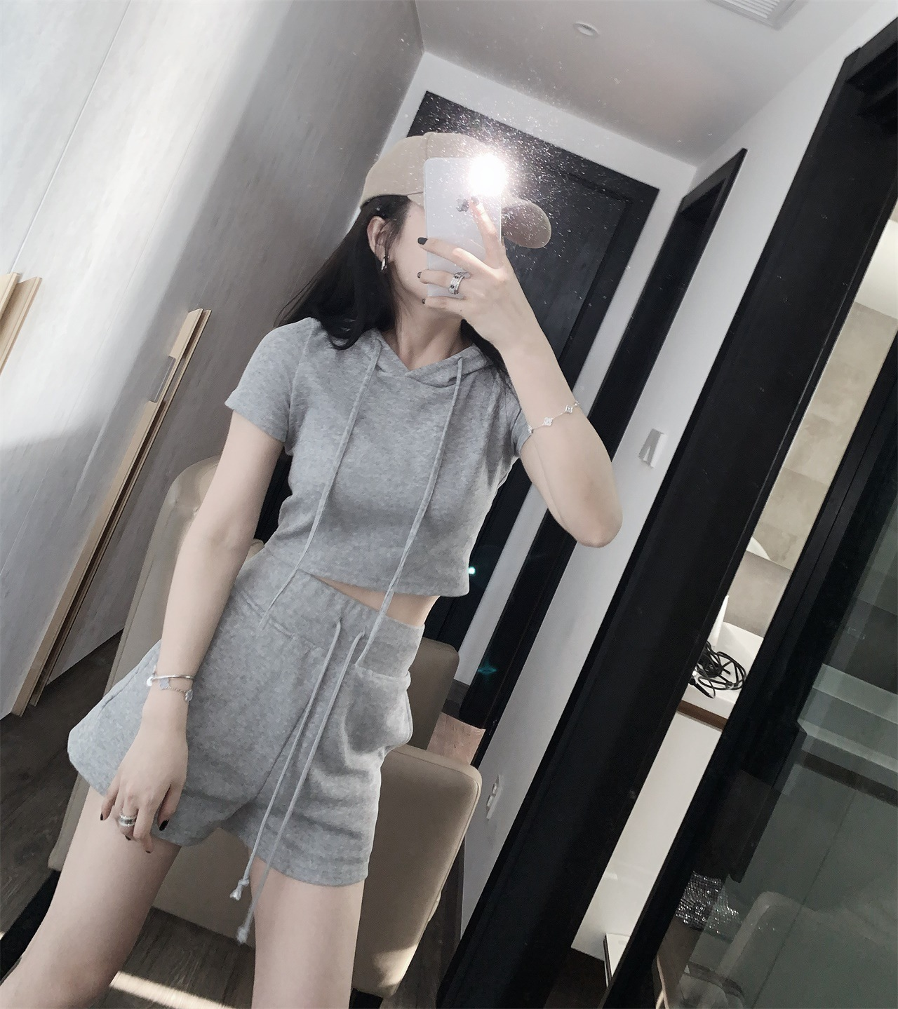 T5081 simple and fashionable knitted suit