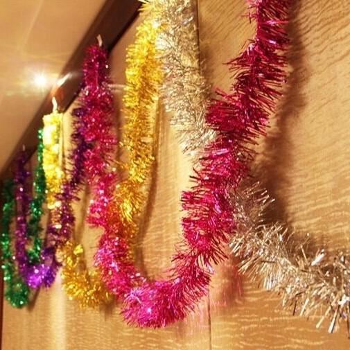 彩条毛条拉花生日装饰节庆生日晚会装饰会场派对新年元旦会场布置