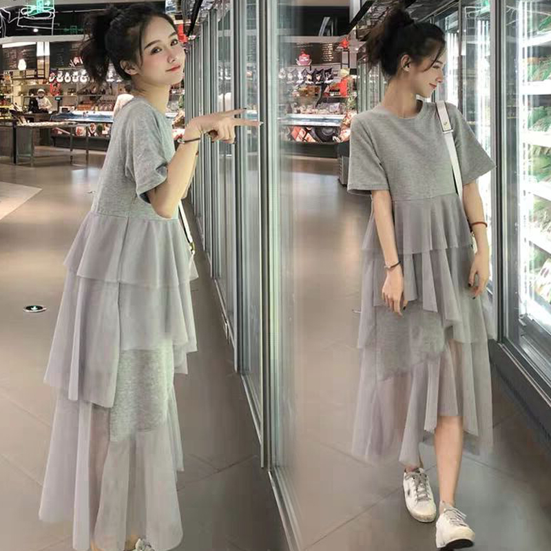 Pregnant womens summer dress 2020 foreign style pregnant womens clothes spring and autumn hot mom personalized fashion summer skirt summer