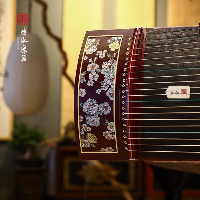传承牌江苏省尼龙钢丝弦新品花开蝶来入门级初学者古筝考级十级