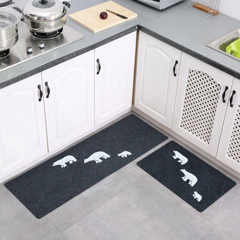 厨房地垫长条防油脚垫卫浴防滑门口吸水门垫卧室推门垫地毯可水洗