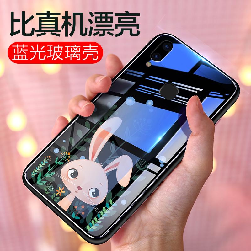 vivox21手机壳女款vivox9全包玻璃x21防摔软硅胶x9plus个性创意x21a屏幕指纹超薄潮牌x20蓝光x20plus可爱卡通