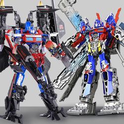 擎天 柱变形机器人天火合体玩具金刚正版手办套装超大3手动4变身5