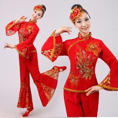2017新款民族秧歌舞表演服