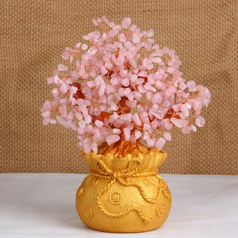 天然の粉の水晶を光らせて、金のなる木を招いて、お金の袋の木を飾って、宝の家の装飾品を納めます。