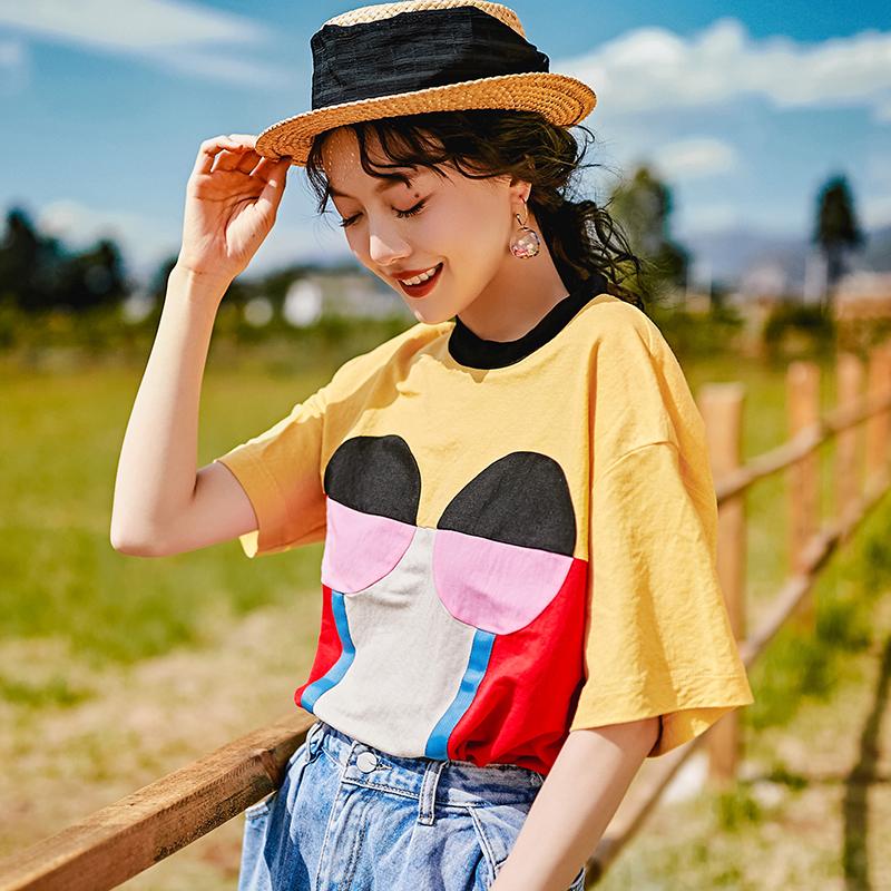 2019夏季新款牙膏Soda设计师卡通短袖T恤女+达芬奇时尚大码连衣裙