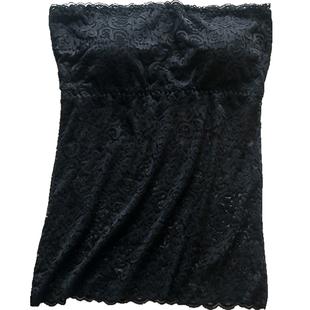 长款无肩带内搭背心带胸垫打底防走光裹胸性感蕾丝上衣抹胸内衣女