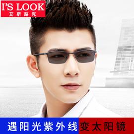 变色眼镜防紫外线辐射抗蓝光男女半框眼睛框平光有度数近视太阳镜图片