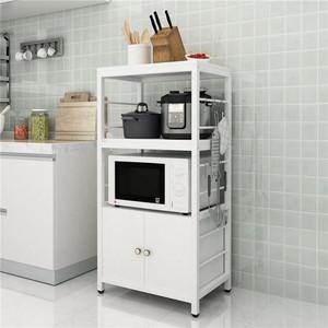 厨房置物架落地烤箱微波炉多层储物碗盘果蔬调味收纳架家用置物柜
