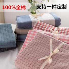 纯棉床笠单件纯色全棉水洗棉床罩防滑固定床垫保护套1.8m床单定制图片