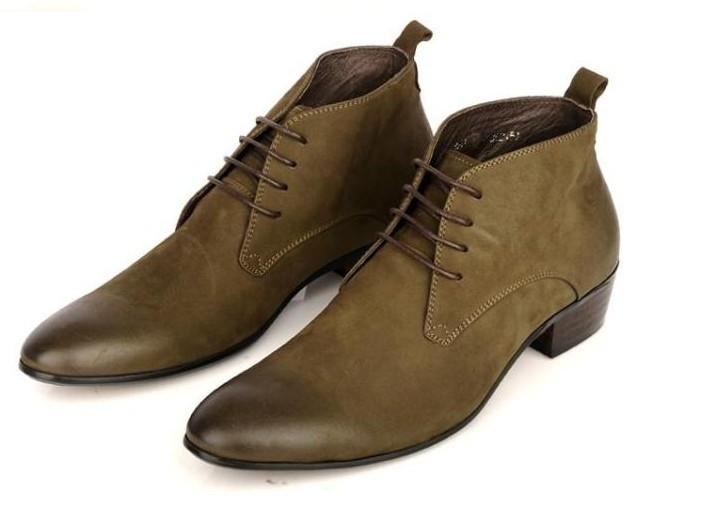 Mens high top leather shoes business dress shoes leather Short Boots Mens boots British leather shoes popular mens shoes Korean casual shoes