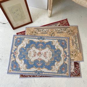 丝丝小物 欧式古典波斯风地垫门口垫桌面垫装饰卧室客厅玄关垫子