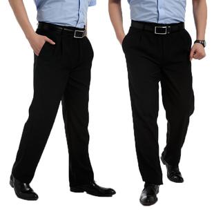 廚師男士褲子黑色廚師工作西褲廚房工作長褲直筒保潔工裝褲男秋冬