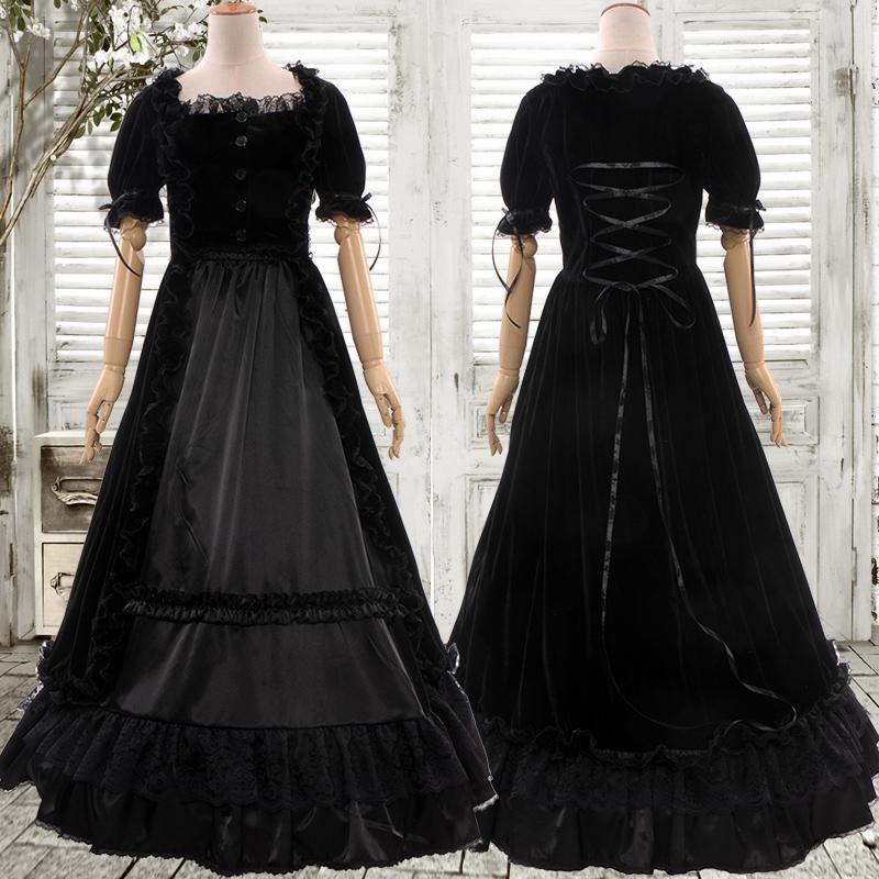 ビクトリア時代のゴシックロリータ姫のワンピースコスプレ衣装をカスタマイズしました。