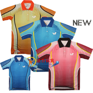 The new printing short sleeved shirt dress shirt Male Table Tennis Billiards service 258