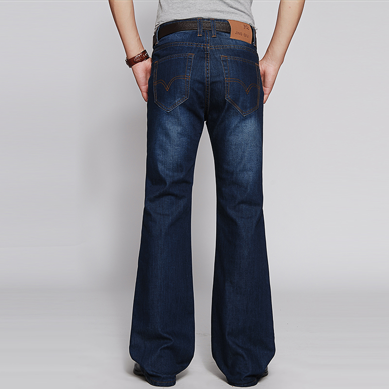 21 spring and autumn new high waist mens flared jeans mens Korean fashion denim micro flared pants