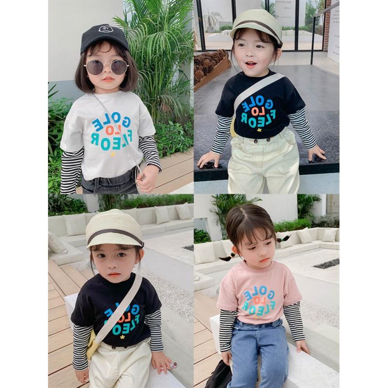 西虹市 女童长袖T恤19新款秋装儿童洋气时髦上衣女宝印花打底衫