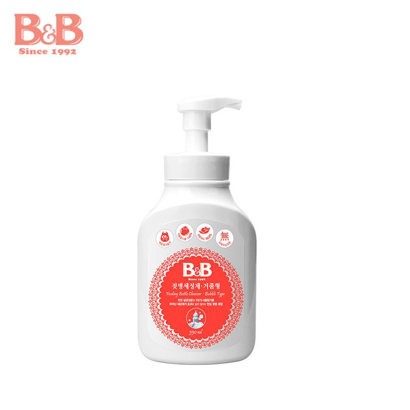 韓國保寧BB嬰幼兒奶瓶奶嘴泡沫型清潔劑清洗劑瓶裝 550ml母嬰用品