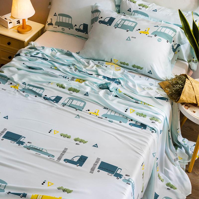 夏季天丝床单单件60支丝滑裸睡单人双人床上用品夏天凉席冰丝被单