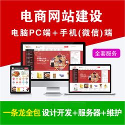 电商商城网站建设电子商务网页设计开发制作维护网上商城搭建全包