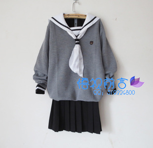 Japan selling uniforms hell girl Enma sailor navy love gray V neck sweater suit British student