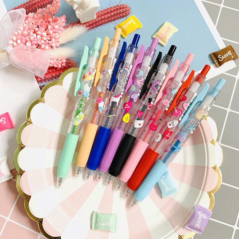 限定日本文具斑马SARASA 少女系列 独角兽笔按动式中性笔 0.4mm满18.80元可用4元优惠券