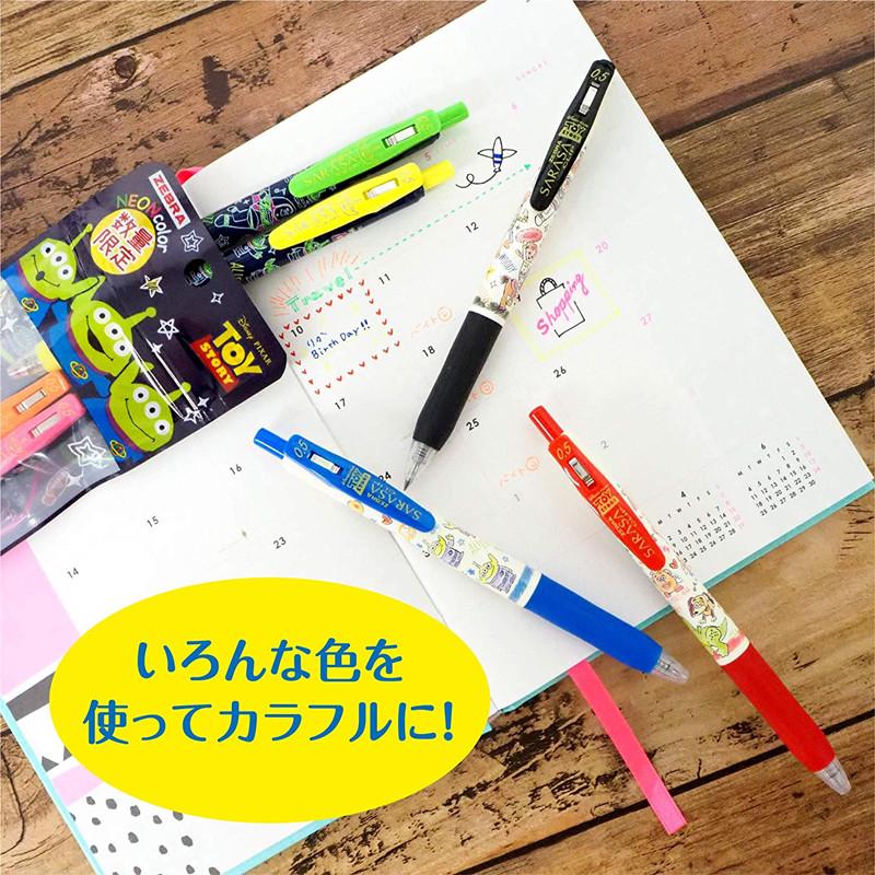 迪士尼玩具总动员限定款日本ZEBRA斑马JJ29TS彩色按动中性笔0.5mm