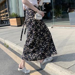 半身裙高腰雪纺碎花裙女夏季 2020新款 一片式 小雏菊裙子包臀a字裙